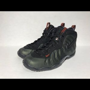 Nike Little Posite Foamposite Island Green Black TD Toddler Sz 6 843769-303
